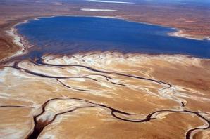 Озеро эйр eyre в редкие случаи своего