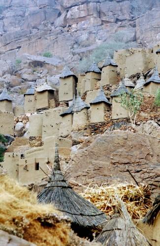 Старинное село в Африке.