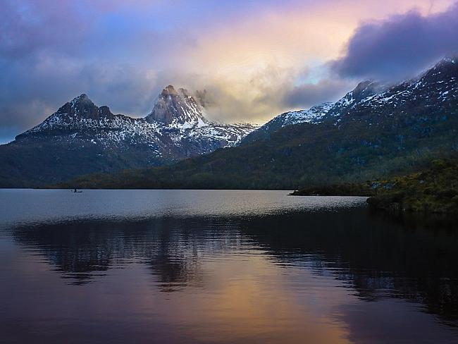 Национальный парк Кредл Моунтейн Лайк Ст Клер, Тасмания.
