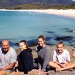 Отдых в кемпинге в Тасмании был самым запоминающимся из всех для семьи Даддо