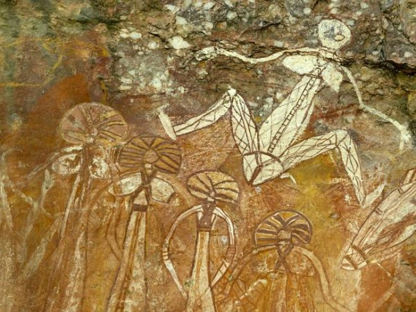 Наскальня живопись в Национальном парке Какаду