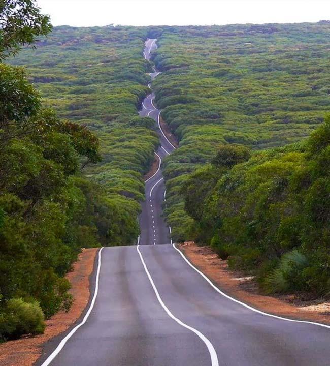 Дороги на Острове Кенгуру, штат Южная Австралия.