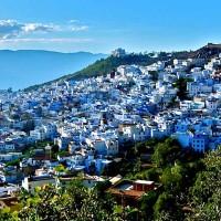 Шефшауэн - город всех оттенков синего. Марокко.