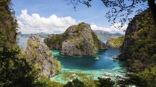Остров на Филиппинах Палаван.