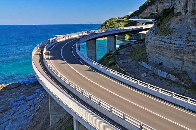 Морской Скальный Мост / Sea Cliff Bridge - Великая Тихоокеанская Дорога, штат Новый Южный Уэльс.