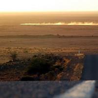Фото: Закат на равнине Мунди Мунди вблизи Сильвертона, Новый Южный Уэльс.