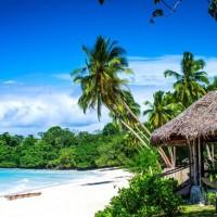 Потерянный рай ... Австралийские туристы были захвачены врасплох после страшных поджогов на курорте в Вануату.