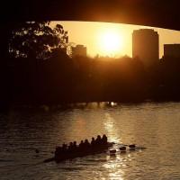Закат на реке Ярра, Мельбурн.