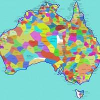 Карта языков аборигенов Австралии