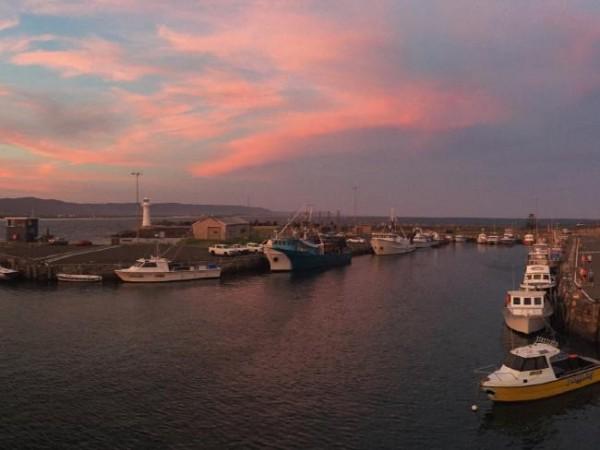Воллонгонгская гавань на закате.