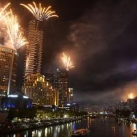 Фейерверки в Мельбурне.