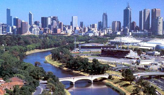 Австралийские города в половине