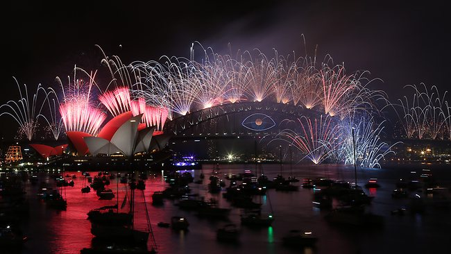 Новогодние Фейерверки Сиднея.