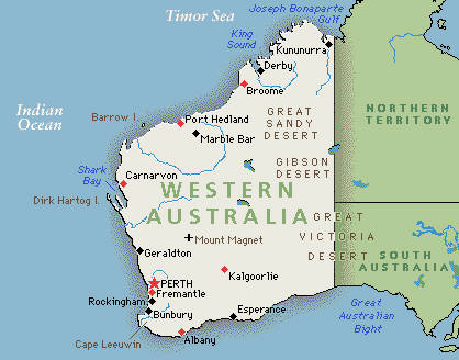 Western Australia States Of Australia Australia - Map of western australia with cities